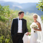 Wedding couple laughs at The Broadmoor