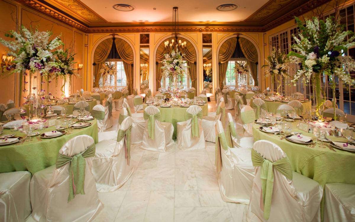 Wedding receptions in The Broadmoor's Lake Terrace Dining Room