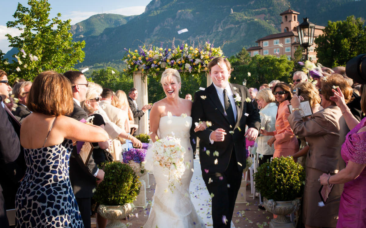 Toffee and Jake's Lakeside Terrace Wedding Celebration at The Broadmoor