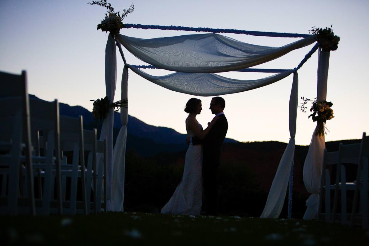 Jewish wedding at the Garden of the Gods Club