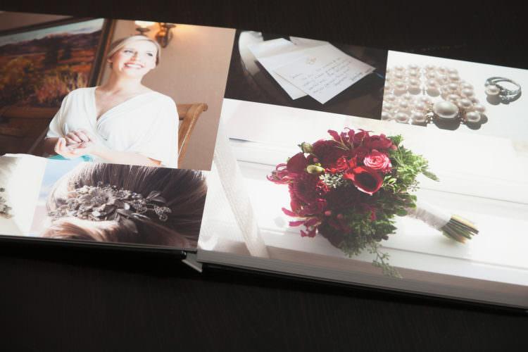 Layflat wedding album for Caroline and Ben
