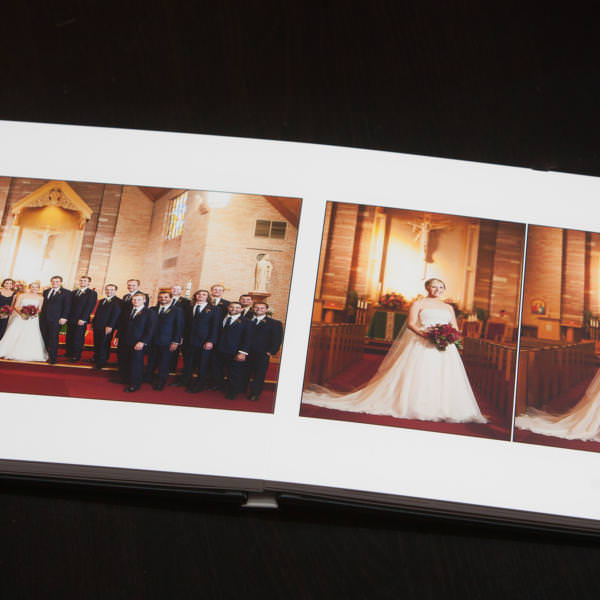 Layflat wedding album for Caroline and Ben