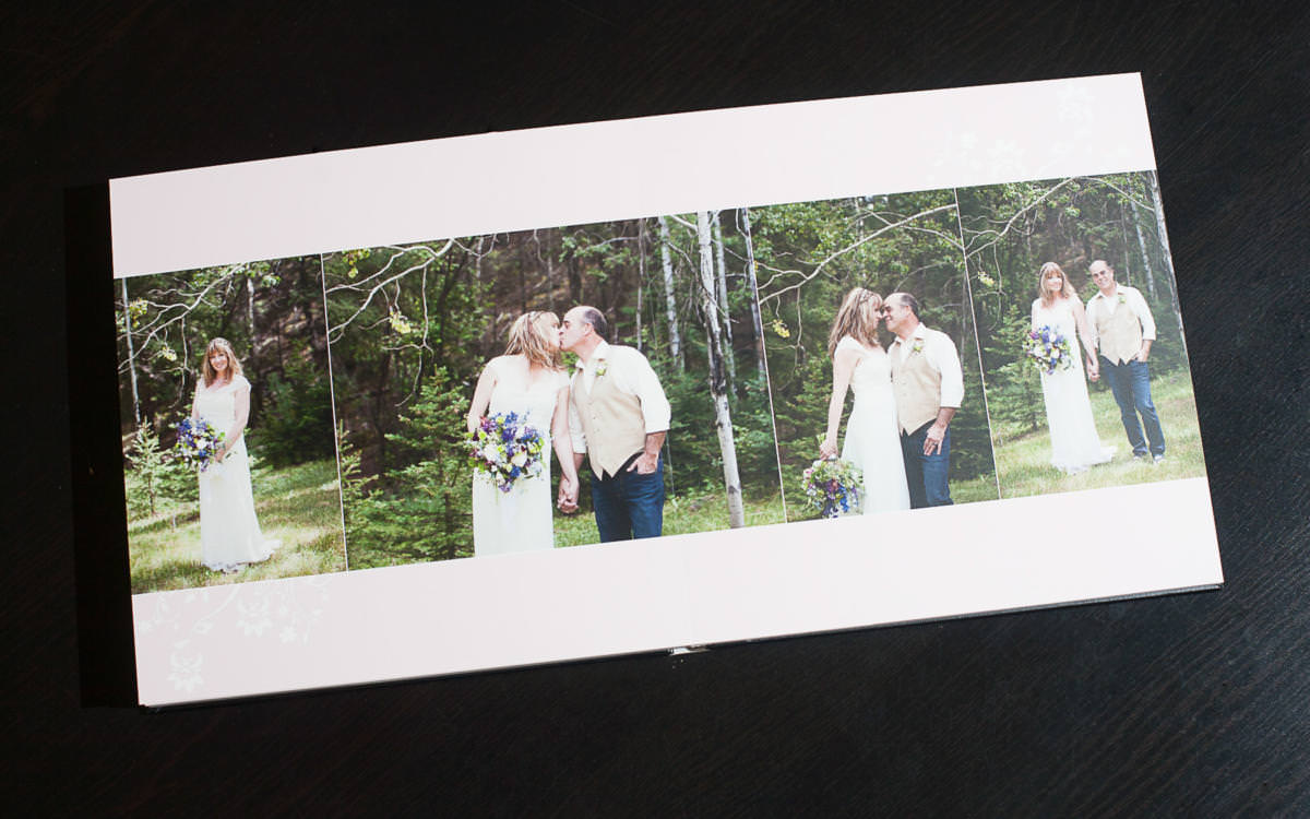 Layflat wedding album for Beth and Dave