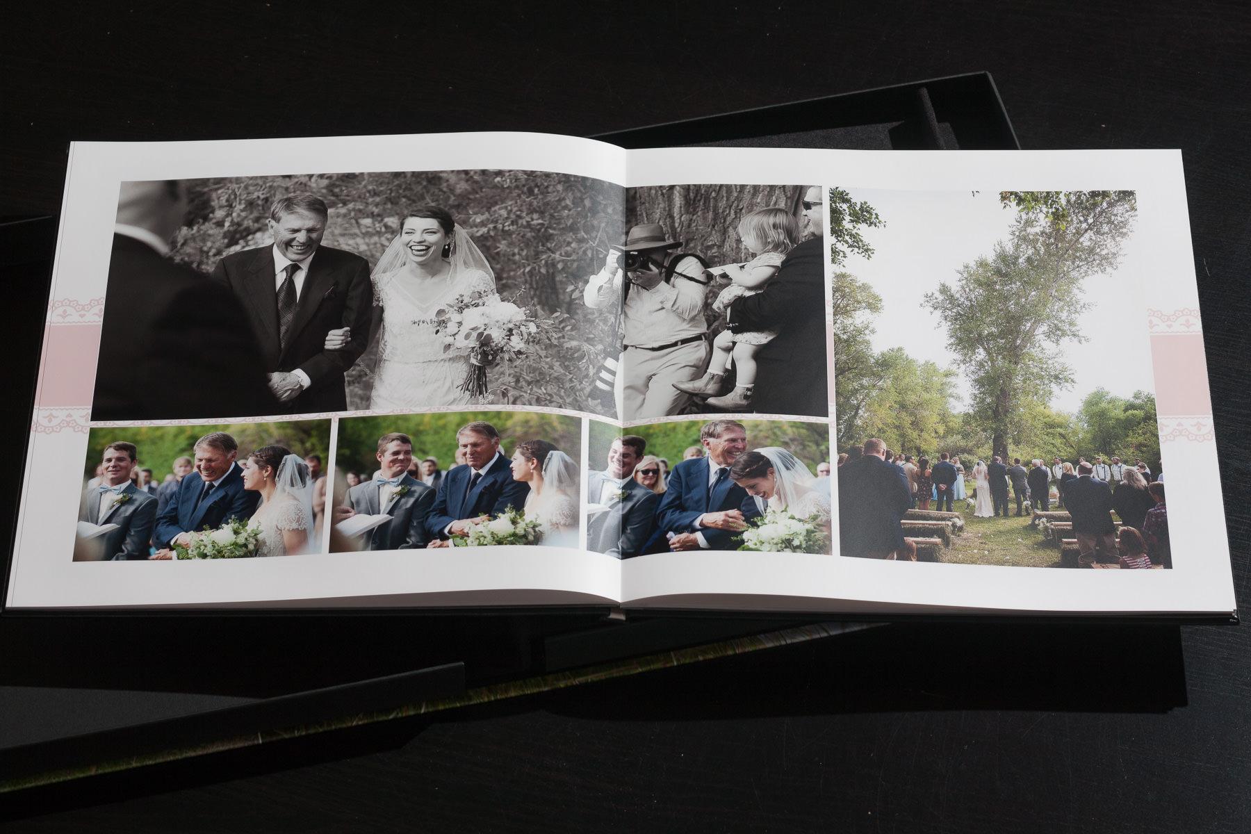 Layflat Album Wyoming Wedding