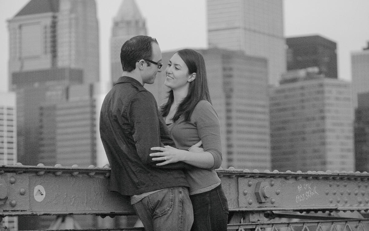 Jen and James' Brooklyn Bridge Engagement