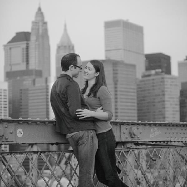 Jen and James' Brooklyn Bridge Engagement