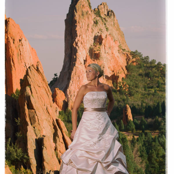 Garden of the Gods Bridal Portrait