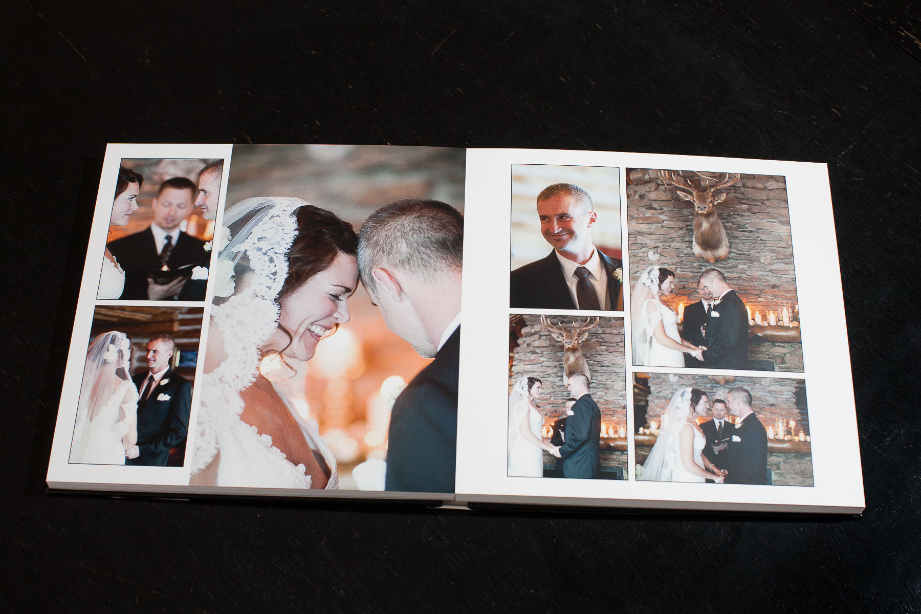 layflat wedding album keystone ranch cayton photography