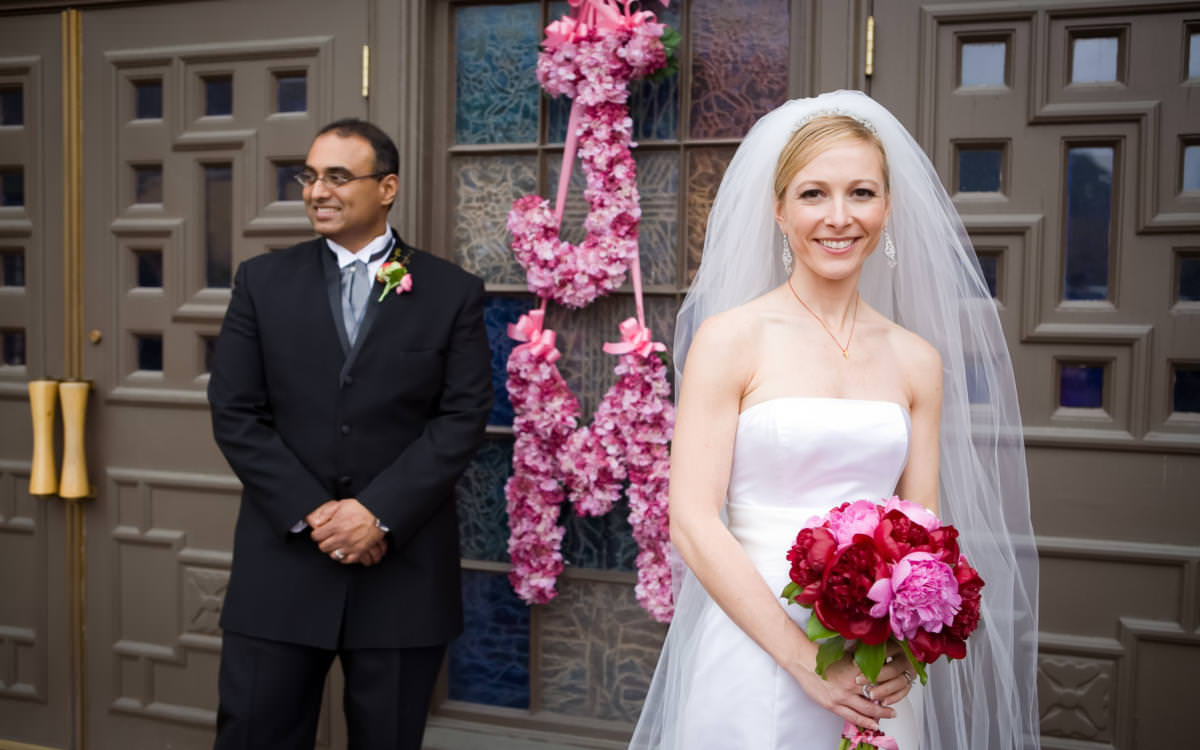 Jennifer and Mathew's St. Paul Catholic Church Wedding featured in The Knot Colorado