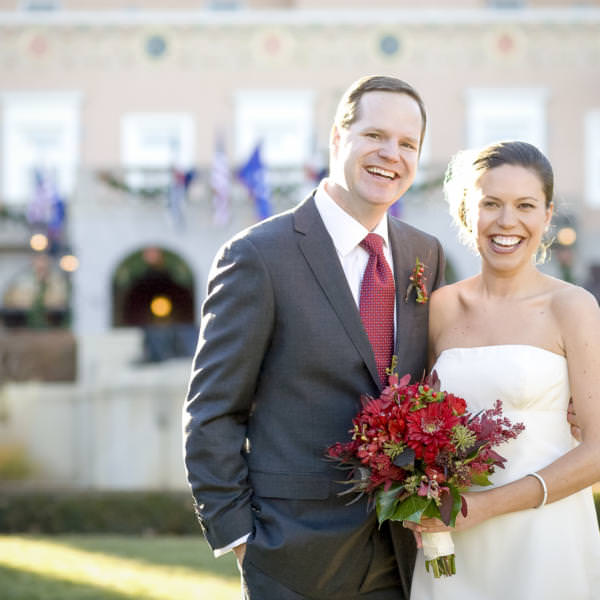 Maggie and Matt's Winter Wedding at Pauline Memorial Chapel