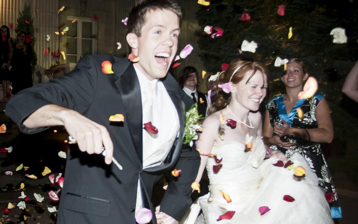 Megan and Greg's Colorado Springs School Wedding