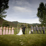 Wedding ceremony at private ranch in Old Snowmass.