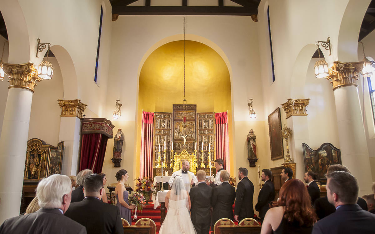 Melissa and Erik's Catholic Wedding Celebration at Pauline Memorial Chapel