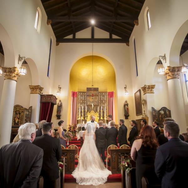 Melissa and Erik's Catholic Wedding Celebration at Pauline Memorial Chapel