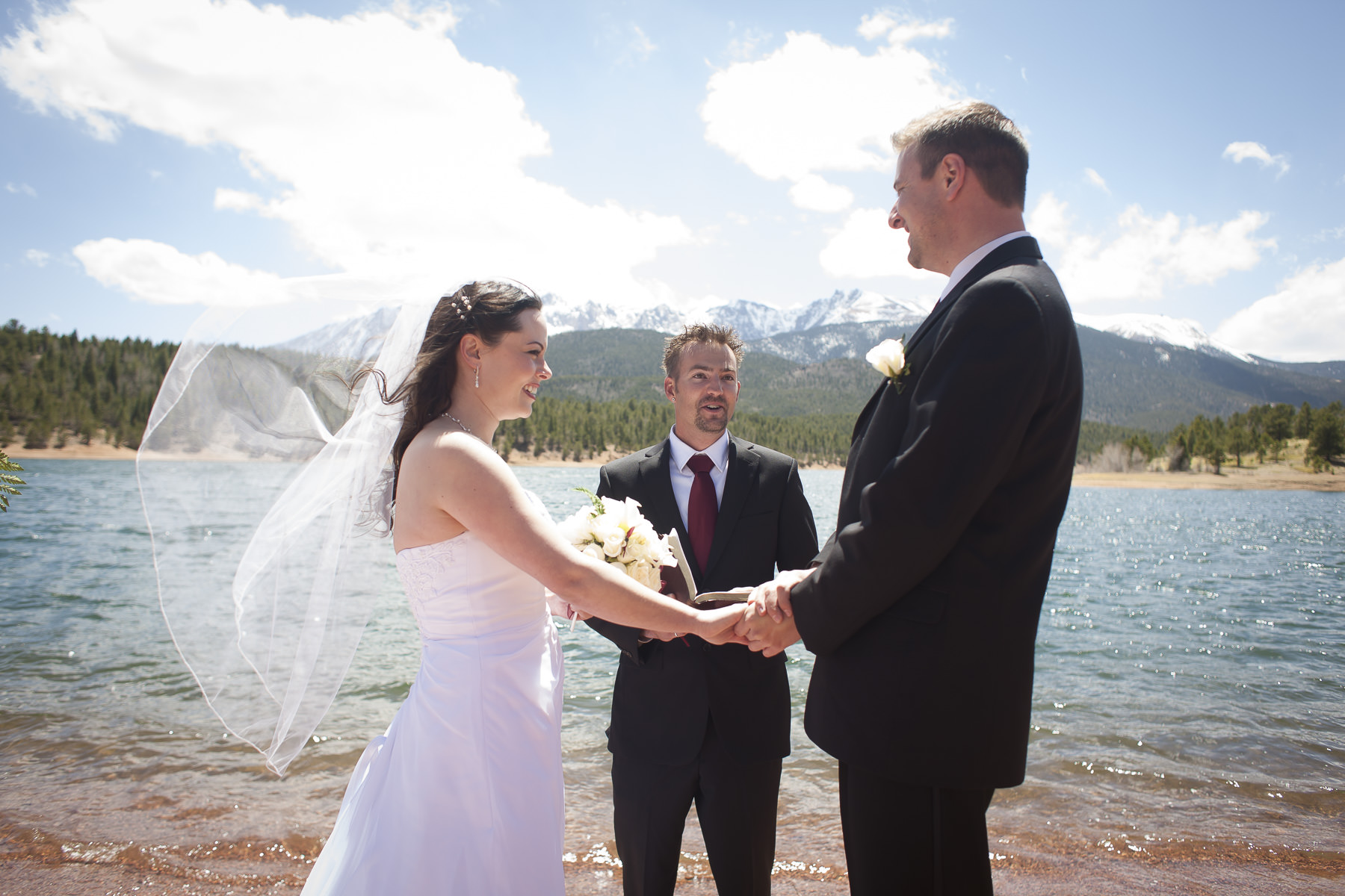 After The Ceremony Tammy And Bryan Decided To Do A Post Wedding Portrait Session On Pikes Peak Highway Above Crystal Lake Dinner Reception At