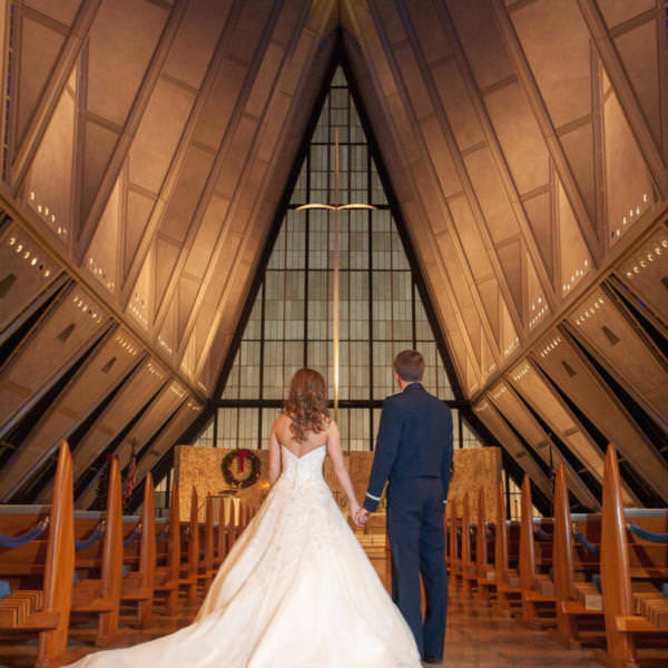 Brittany and Brandon's Winter Wedding at Air Force Academy Cadet Chapel